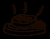 Disegno di Carne alla griglia da colorare