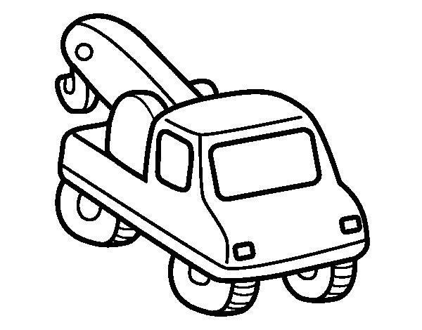 Disegno di carro attrezzi da colorare for Disfare la valigia in inglese