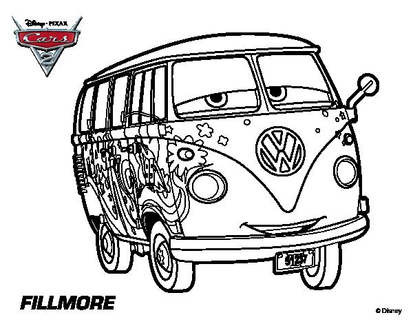 Disegno di cars 2 fillmore da colorare for Disegno di cars 2 da colorare
