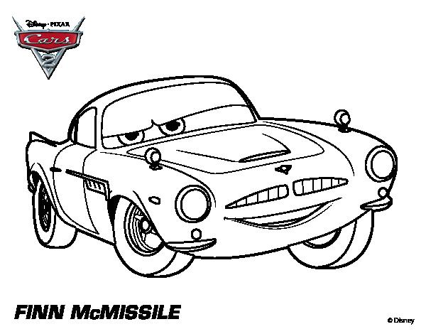 Disegno di cars 2 finn mcmissile da colorare for Disegno di cars 2 da colorare
