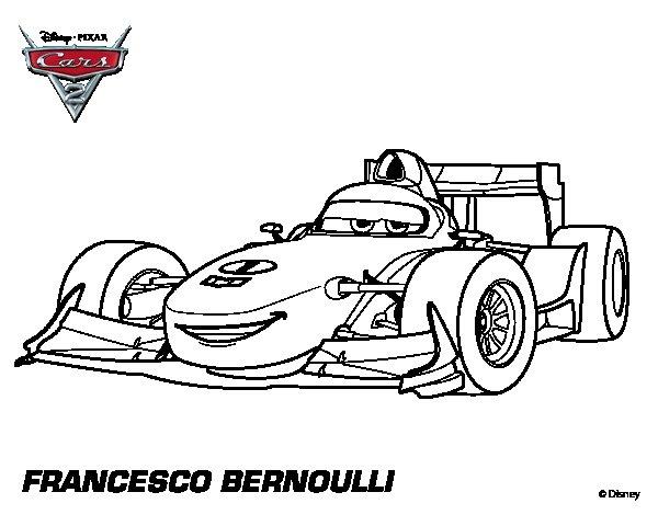 Disegno di cars 2 francesco bernoulli da colorare for Disegno di cars 2 da colorare