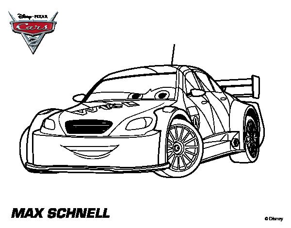 Disegno di Cars 2 Max Schnell da Colorare acolore