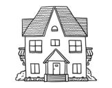 Disegno di Casa con balconi da colorare