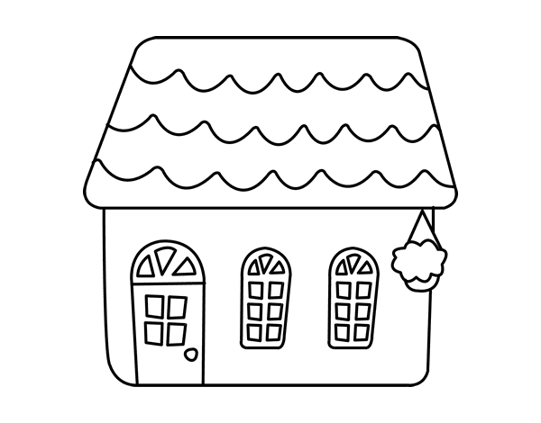 Disegno di casa di una favola da colorare for Disfare la valigia in inglese