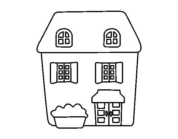 Disegno di casa stile inglese da colorare for Casa disegno