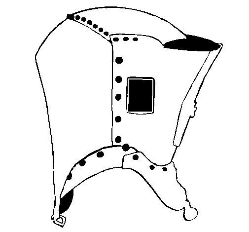 Disegno di Casco da cavaliere  da Colorare
