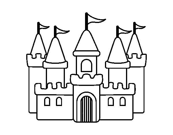 Disegno di castello fantastico da colorare for Disegni casa castello