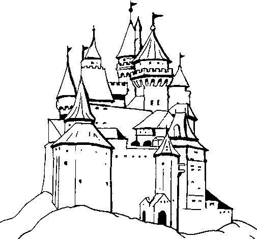 Disegno di Castello medievale  da Colorare