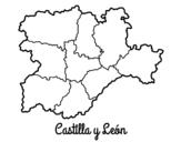 Disegno di Castiglia e León da colorare