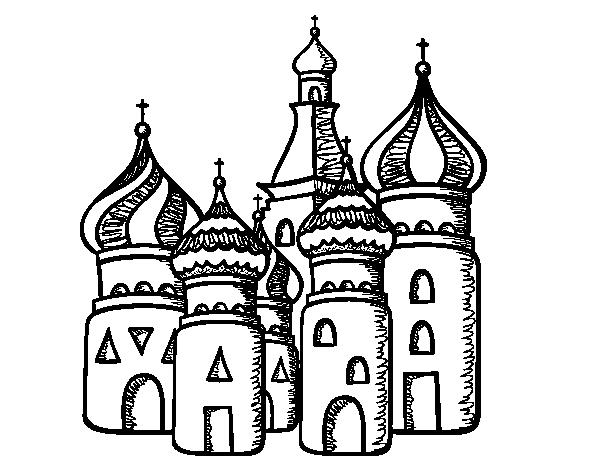Sao Para Colorear: Disegno Di Cattedrale Di San Basilio Di Mosca Da Colorare