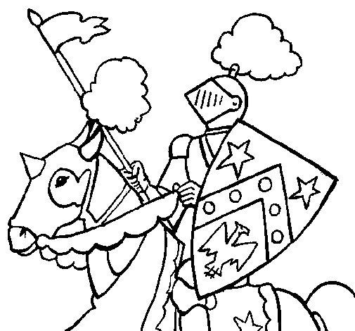 Disegno di cavaliere a cavallo da colorare - Cavaliere libro da colorare ...