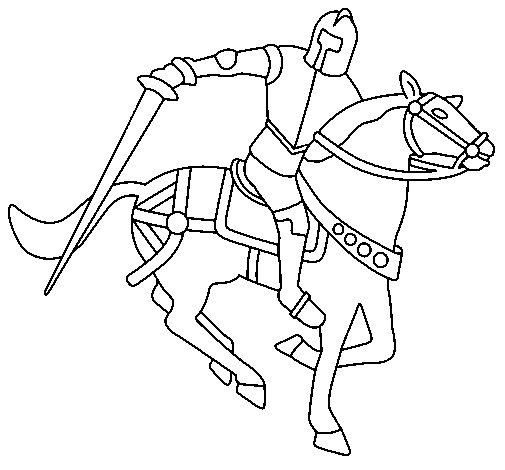 Disegno di cavaliere a cavallo iv da colorare - Cavaliere libro da colorare ...