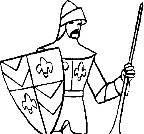 Disegno di Cavaliere della corte  da Colorare