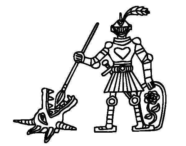 Disegno di cavaliere saint georges da colorare - Cavaliere libro da colorare ...