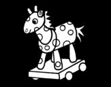 Disegno di Cavallo di legno da colorare