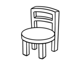 Disegno di Chair rotonda da colorare