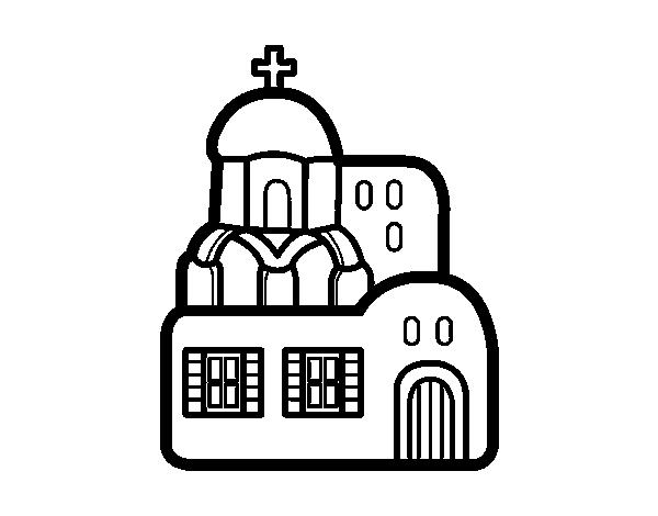 Disegno di chiesa da colorare for Disfare la valigia in inglese