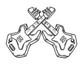 Dibujo de Chitarre Elettrica