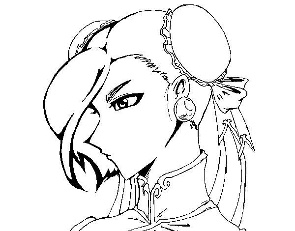 Disegno di Chun-Li da Colorare