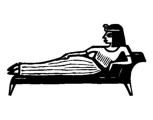 Disegno di Cleopatra sdraiata da Colorare