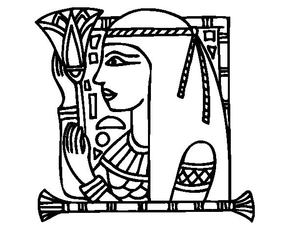 cleopatra coloring page - disegno di cleopatra da colorare