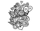 Disegno di Collage di cerimonia nuziale da colorare
