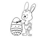 Disegno di Colorare l'uovo di Pasqua da colorare
