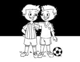 Disegno di Compagni di squadra da colorare