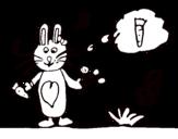 Disegno di Coniglietto con carota da colorare