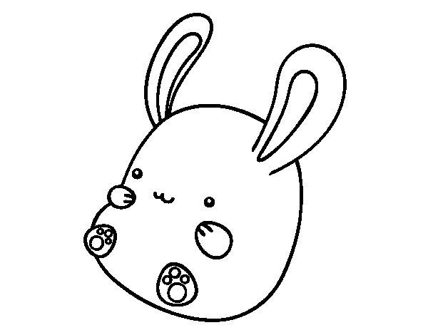 Disegno di Coniglio bebè da Colorare