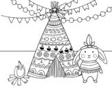 Disegno di Coniglio indiano da colorare