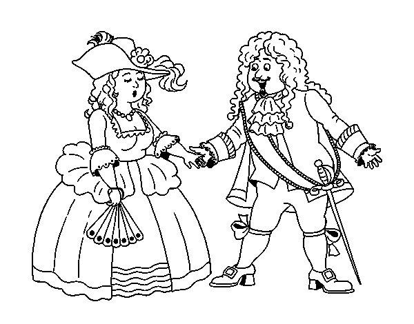 Disegno di Conte i contessa da Colorare