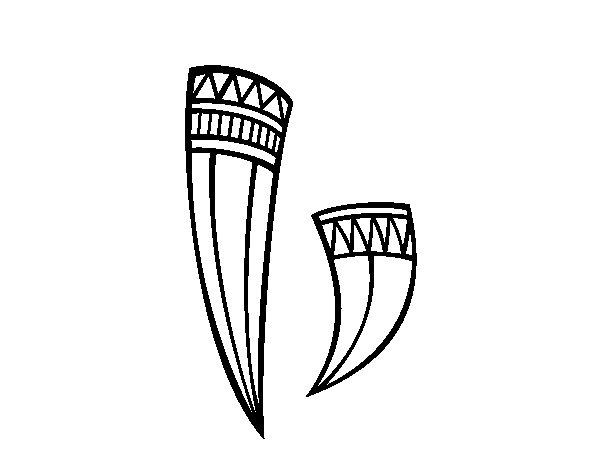 Disegno di Corni decorato indiano da Colorare