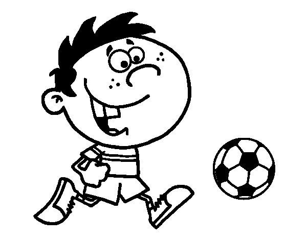 Disegno di Correre con la palla da Colorare