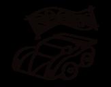 Disegno di Corse automobilistiche da colorare