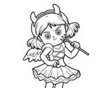Disegno di Costume del diavolo da colorare