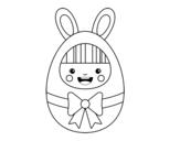 Disegno di Costume di Pasqua da colorare