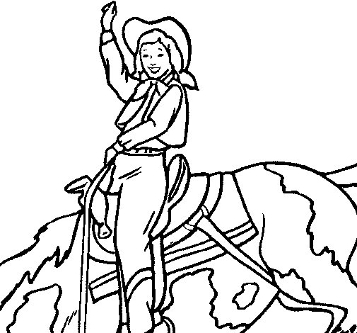 Disegno di Cow girl da Colorare