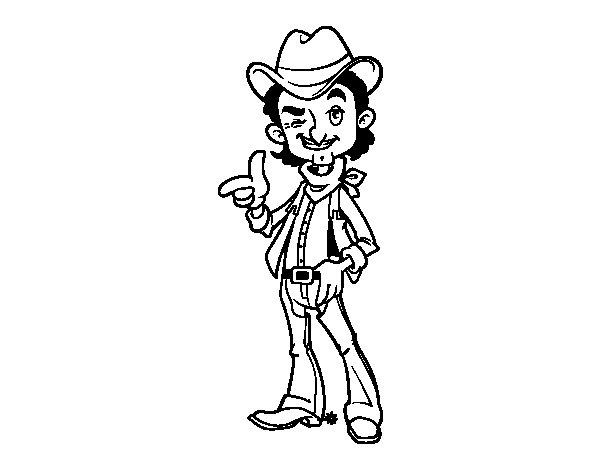 Disegno di Cowboy da Colorare