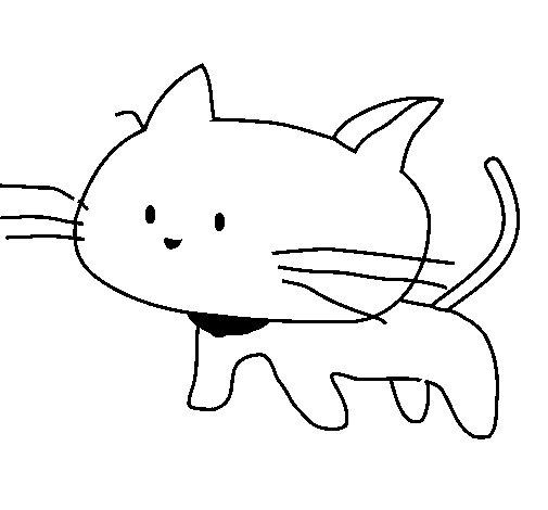 Disegno di cucciolo di gatto da colorare for Disegno gatto facile