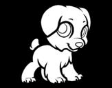 Disegno di Cucciolo felice da colorare