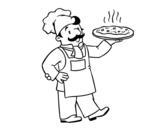 Disegno di Cuoco italiano da colorare