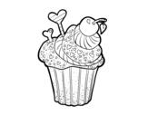 Disegno di Cupcake delizioso da colorare