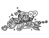 Disegno di Decorazione di nozze da colorare