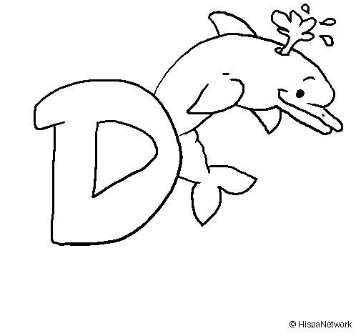 Disegno di Delfino  da Colorare
