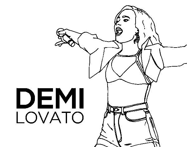 Disegno di Demi Lovato Concerto da Colorare