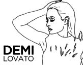 Disegno di Demi Lovato Confident da colorare