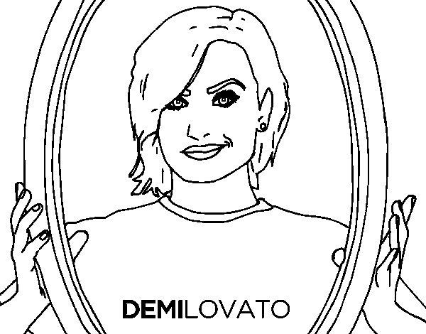 Disegno di Demi Lovato Popstar da Colorare