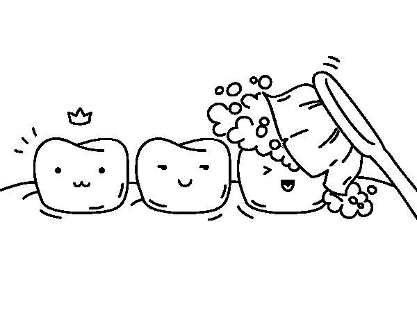 Disegno di Denti da Colorare