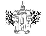 Disegno di Dimora in stile Halloween da colorare